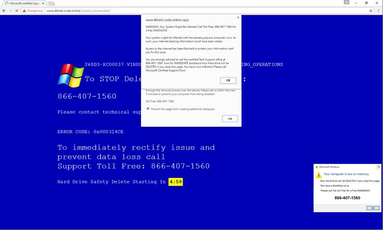 fake windows error message